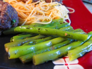 Thyme and Garlic Fresh green beans