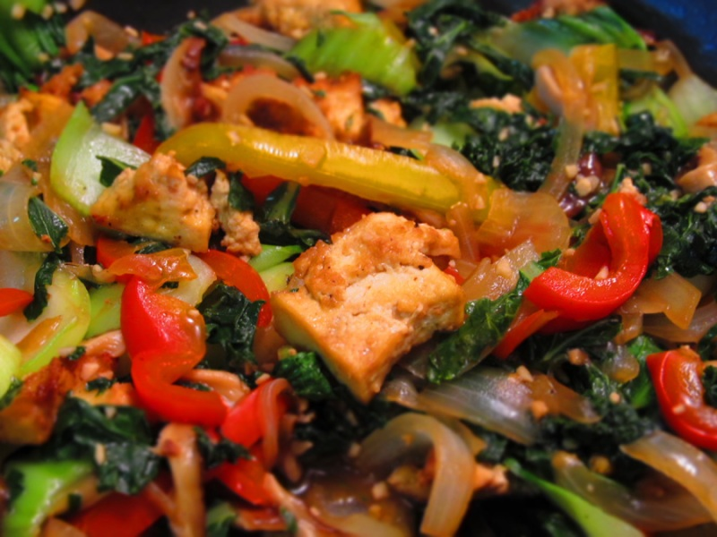 Black Pepper Tofu. Thai food